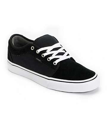 Vans Chukka Low Black, Pewter & White Skate Shoes (Mens)