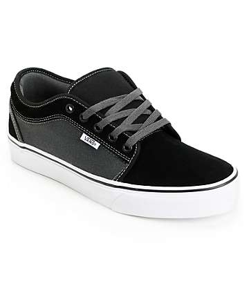 Vans Chukka Low Black & Dark Slate Skate Shoes (Mens)