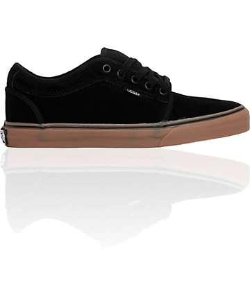 Vans Chukka Low Black & Gum Skate Shoes (Mens)