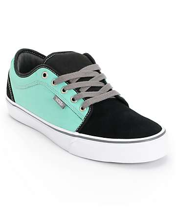Vans Chukka Low Black & Mint Skate Shoes (Mens)
