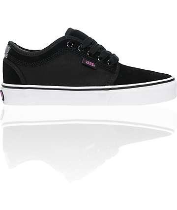 Vans Chukka Low Black & Pink Shoes (Womens)