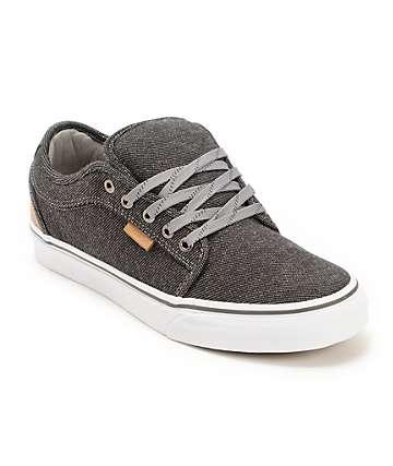 Vans Chukka Low Black & Tan Tweed Skate Shoes (Mens)