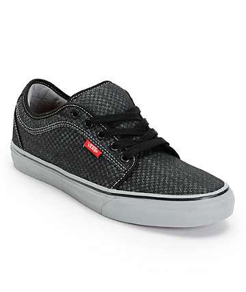 Vans Chukka Low Black Micro Check Canvas Skate Shoes (Mens)