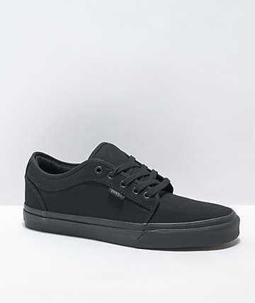 Vans Chukka Low Black Mono Canvas Skate Shoes