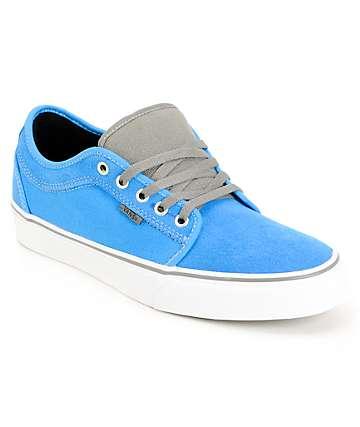 Vans Chukka Low Bright Blue & Pewter Skate Shoes (Mens)