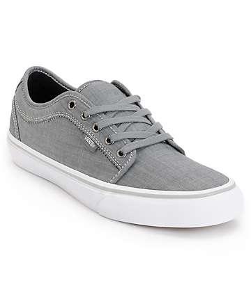 Vans Chukka Low Chambray Grey Skate Shoes (Mens)