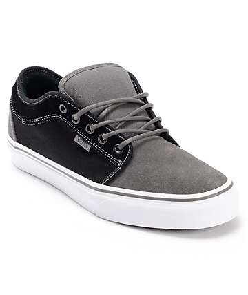 Vans Chukka Low Charcoal & Black Skate Shoes (Mens)