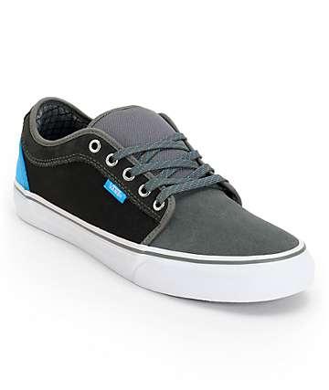 Vans Chukka Low Charcoal & Sky Blue Canvas Skate Shoes (Mens)