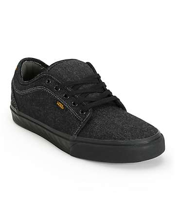 Vans Chukka Low Cork Black Denim Skate Shoes (Mens)