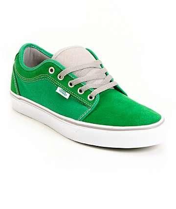 Vans Chukka Low Green & White Skate Shoes (Mens)