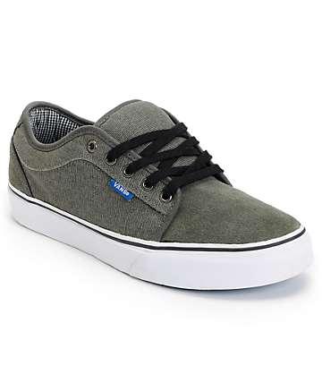 Vans Chukka Low Grey, Black, & Royal Skate Shoes (Mens)