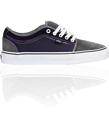 Vans Chukka Low Grey, Purple & White Skate Shoes (Mens)