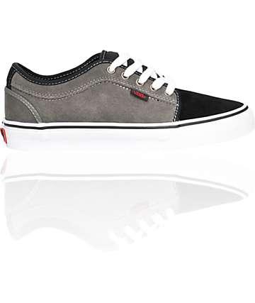 Vans Chukka Low Grey & Black Suede Skate Shoes (Mens)