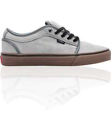 Vans Chukka Low Grey & Gum Pfanner Skate Shoes (Mens)