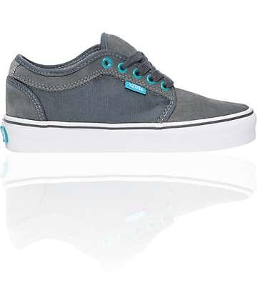 Vans Chukka Low Grey & Lake Shoes (Womens)