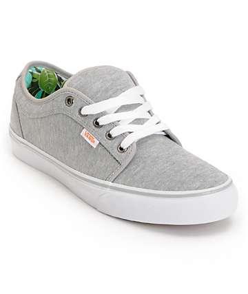 Vans Chukka Low Grey Jersey & Hawaii Mint Skate Shoes (Mens)