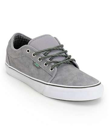 Vans Chukka Low Hiker Grey & Mint Suede Skate Shoes (Mens)