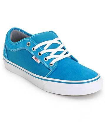 Vans Chukka Low Lagoon Blue Skate Shoes (Mens)