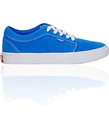 Vans Chukka Low Mo Blue Suede Skate Shoes (Mens)
