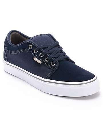 Vans Chukka Low Navy, White & Warm Grey Skate Shoes (Mens)