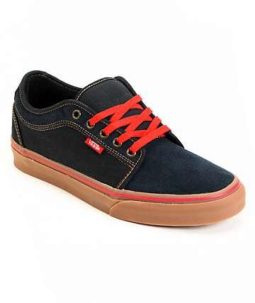Vans Chukka Low Navy & Gum Skate Shoes (Mens)