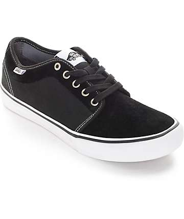 Vans Chukka Low Pro Black and White Skate Shoes