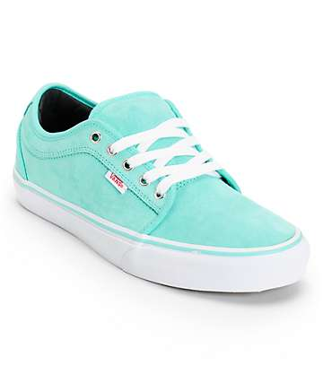 Vans Chukka Low Seafoam Suede Skate Shoes (Mens)