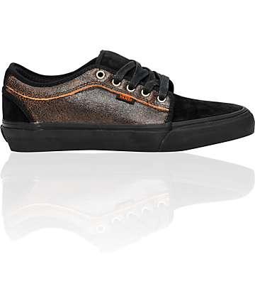 Vans Chukka Low Snow Black & Orange Skate Shoes (Mens)