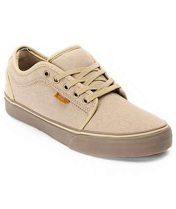 Vans Chukka Low Tan Canvas & Gum Skate Shoes (Mens)