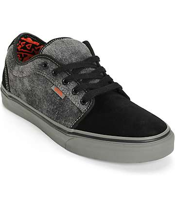 Vans Chukka Low Washed Denim Skate Shoes (Mens)