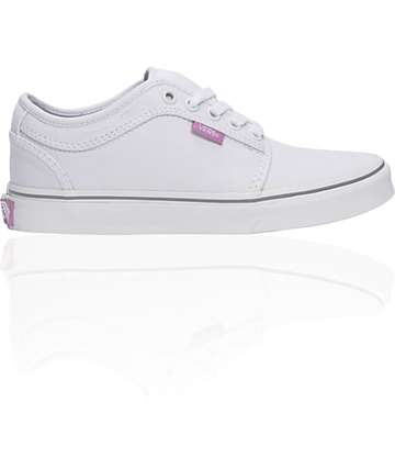 Vans Chukka Low White & Violet Shoes (Womens)