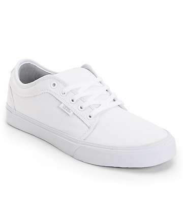Vans Chukka Low White Skate Shoes (Mens)