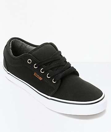 Vans Chukka Low zapatos de skate en blanco y negro