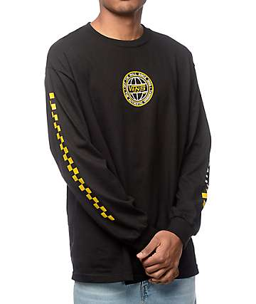 Vans Classic Era Black & Yellow Long Sleeve T-Shirt