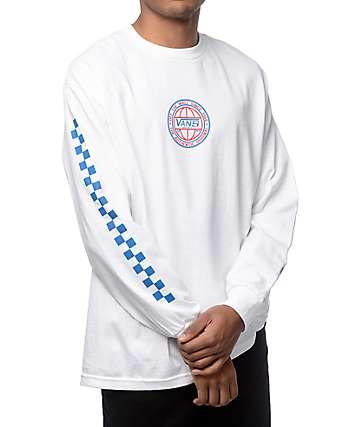 Vans Classic Era camiseta de manga larga en blanco, azul y rojo
