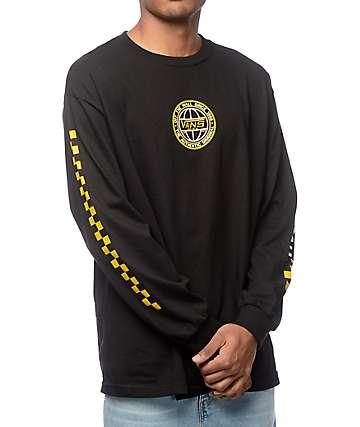 Vans Classic Era camiseta de manga larga en negro y color amarillo