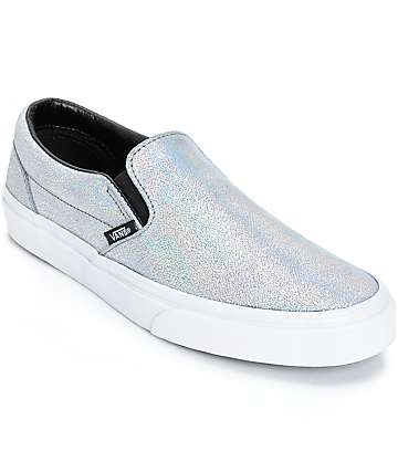 Vans Classic Iridescent Slip-On Shoes (Womens)