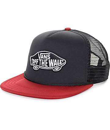 Vans Classic Patch Black and Rhubarb Trucker Hat