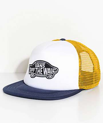 Vans Classic Patch Blue, White & Yellow Trucker Hat