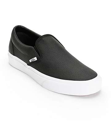 Vans Classic Perforated Leather Slip-On Shoes