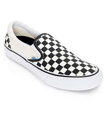 Vans Classic Pro 50th Black and White Checkerboard Slip On Shoes (Mens)