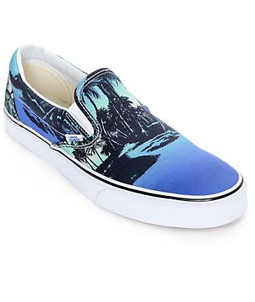 Vans Classic Van Doren Hoffman Blue Slip On Shoes (Mens)