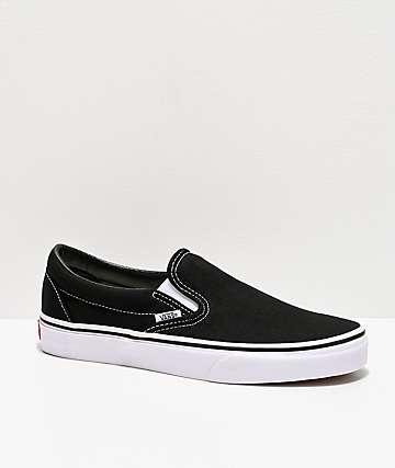 Vans Classic zapatos sin cordones blanco y negro