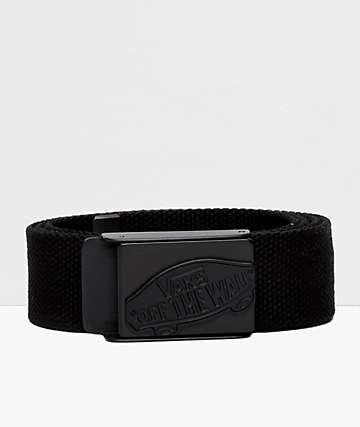 Vans Conductor Black Web Belt