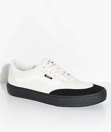 Vans Crockett 2 White & Black Skate Shoes
