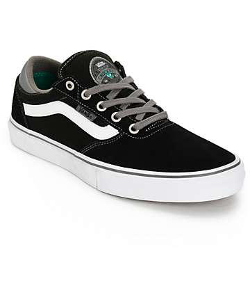 Vans Crockett Pro Black Skate Shoes (Mens)