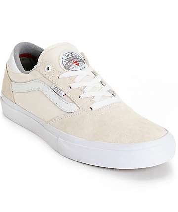 Vans Crockett Pro White Skate Shoes (Mens)