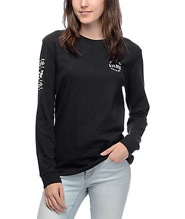 Vans Cuff Track Black Long Sleeve T-Shirt