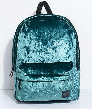 Vans Deanna 22L mochila de terciopelo verde