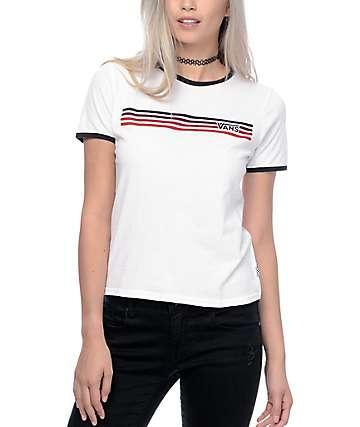 Vans Elementary White Ringer T-Shirt
